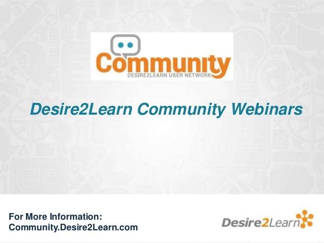 D2L Community Webinar - Online Student Expectations