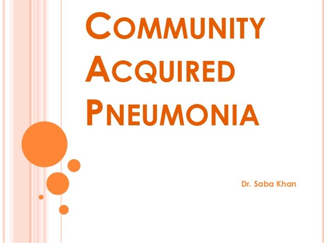 community acquired pneumonia guidelines nhs