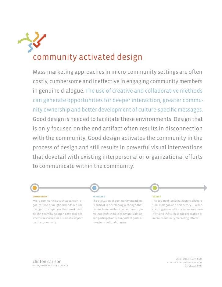 Community Activated Design