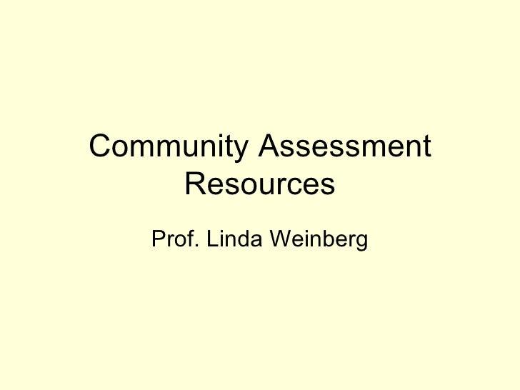 Community assessment for health statistics lib guide june 2012