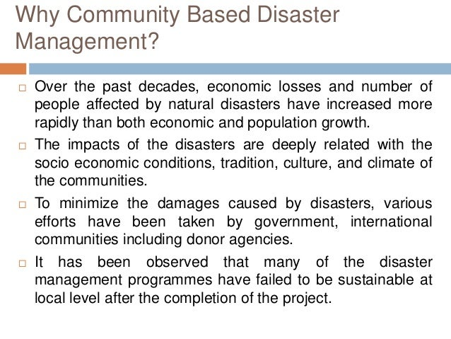 Essay on disaster management