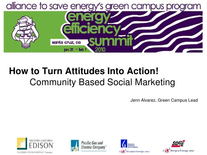 How to Turn Attitudes Into Action!: Community-Based Social Marketing