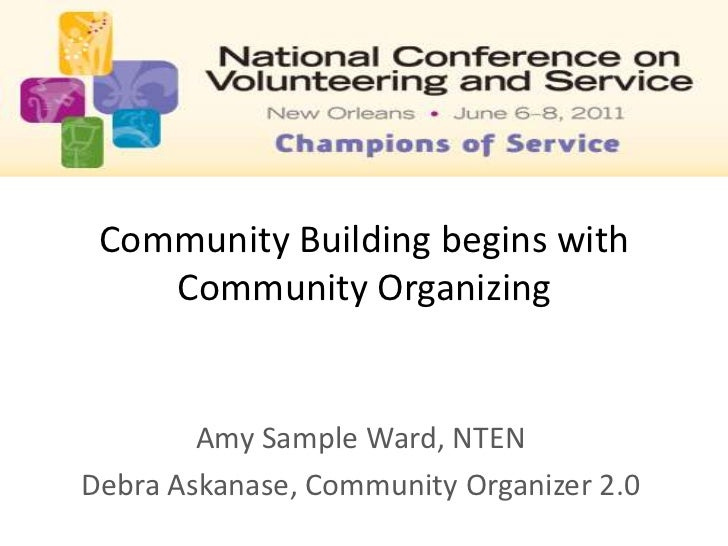 Community Building Begins with Community Organizing