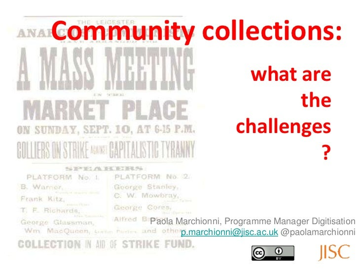 Community collections:                            what are                                  the                           ...