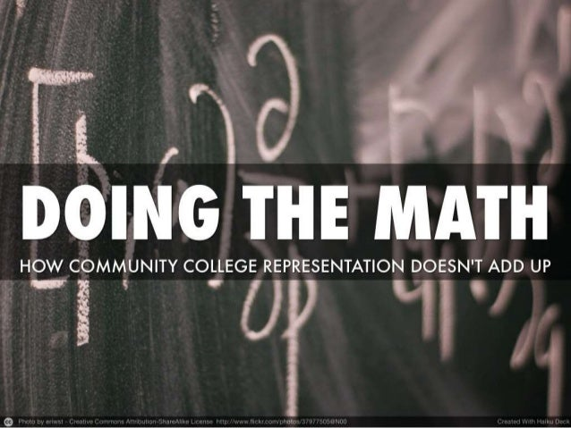 Doing the Math: How Community College Representation Doesn't Add Up