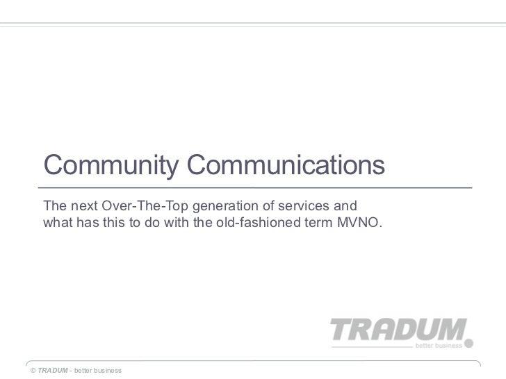 Community Communcations Presentation