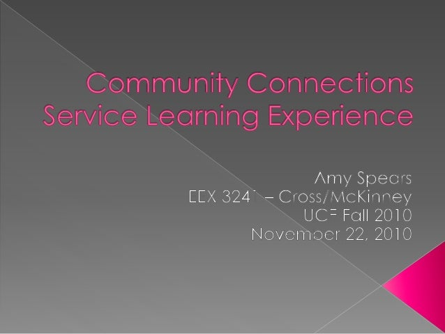  My Service Learning Experiences: › Oviedo Recreation and Parks Special Populations Dance › One-on-one nanny & tutor for ...