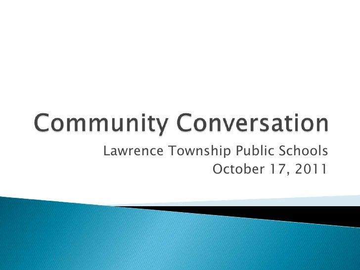 LTPS Community Conversation Oct 17 2011