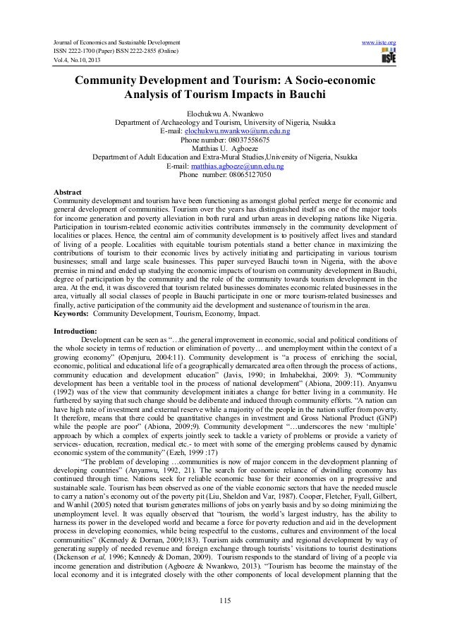 Journal of Economics and Sustainable Development www.iiste.org ISSN 2222-1700 (Paper) ISSN 2222-2855 (Online) Vol.4, No.10...