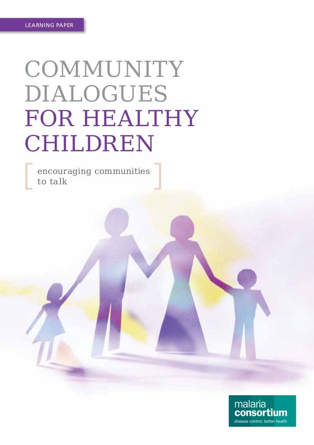 Community dialogues for healthy children: encouraging communities to talk