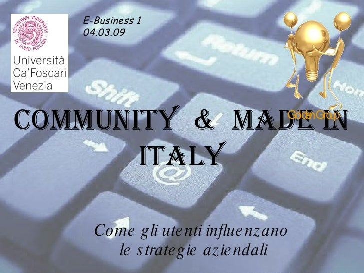 Community E Made In Italy