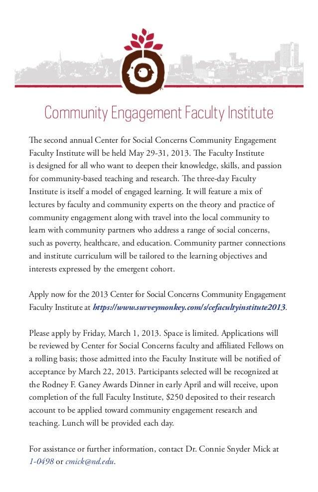 Community Engagement Faculty Institute                                           Community Engagement Faculty InstituteThe...