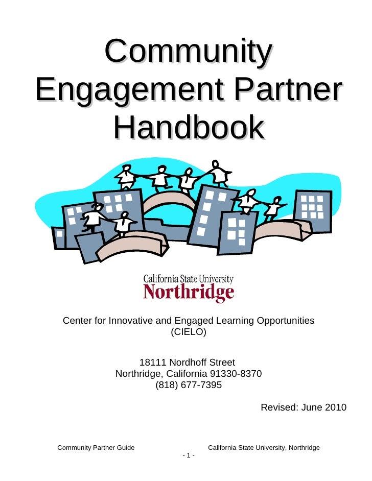 Community Engagement Partner Handbook Revised June 2010