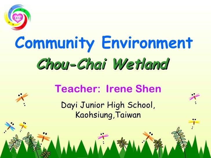Community environment   chou chai wetland