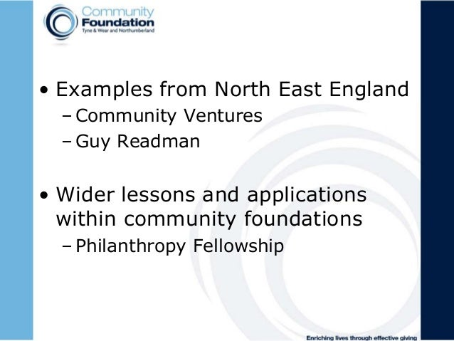 Community foundation, rob williamson, social investment for 21st century