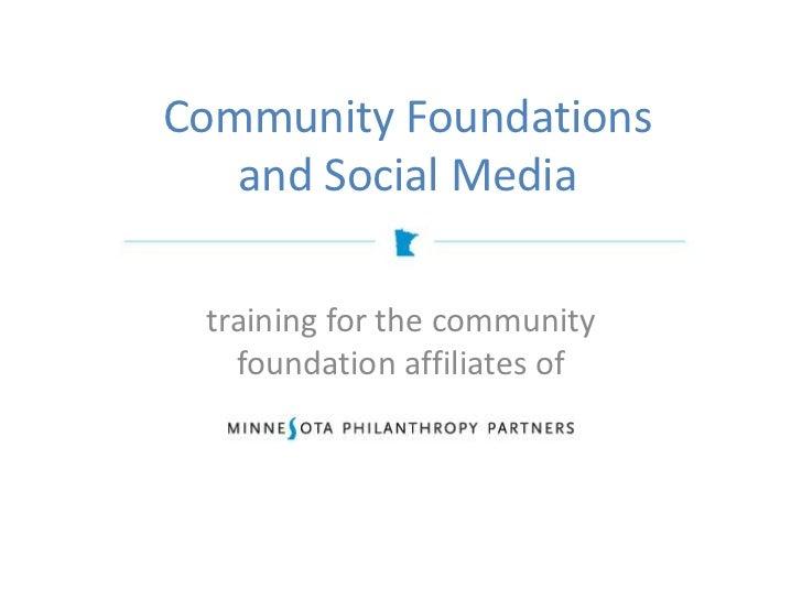 Community Foundations and Social Media