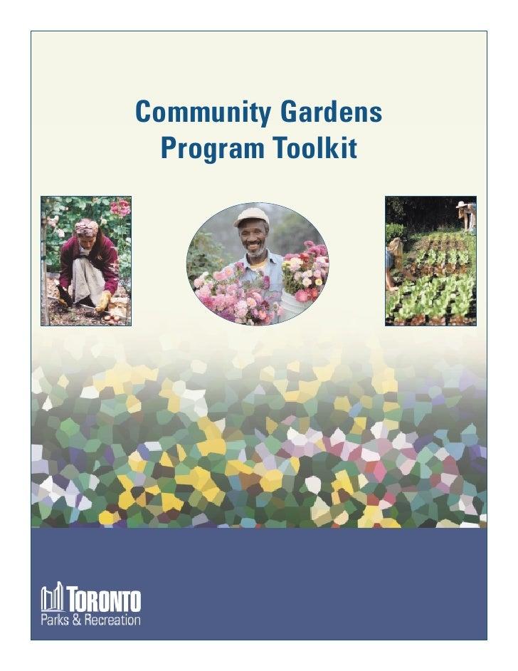 Community Gardens  Program Toolkit