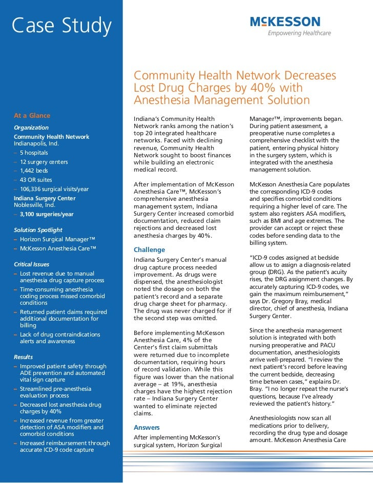 Community Health Network Decreases Lost Drug Charges by 40% with Anesthesia Management Solution