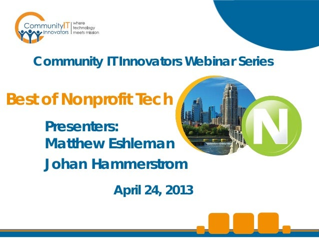 Community IT Innovators - Best of Nonprofit Tech Webinar
