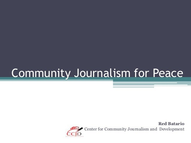 Community journalism for peace