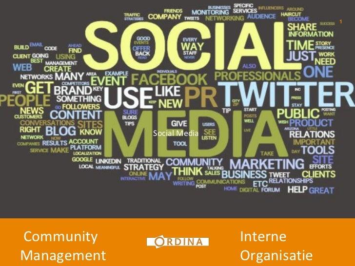 1             Social MediaCommunity                   InterneManagement                  Organisatie
