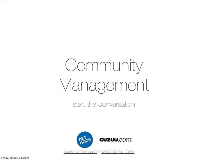 Community                            Management                               start the conversation                      ...