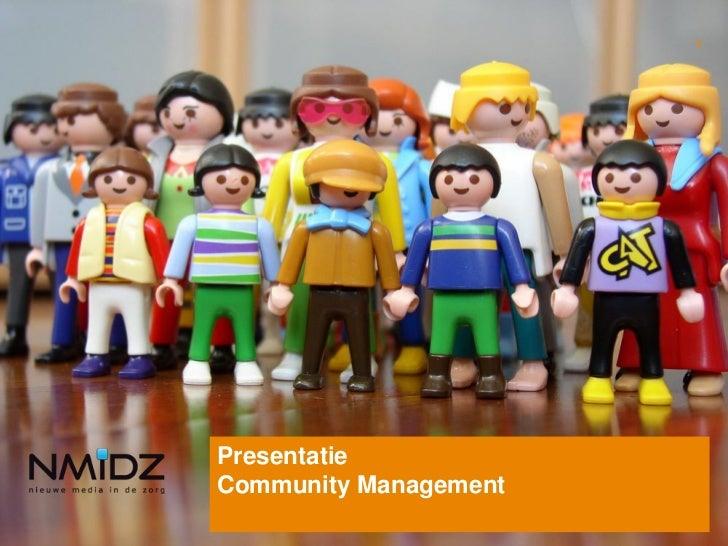 1PresentatieCommunity Management
