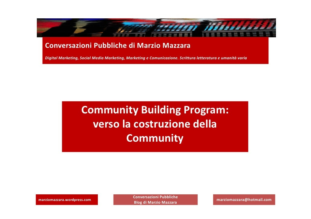 Conversazioni Pubbliche di Marzio Mazzara   Digital Marketing, Social Media Marketing, Marketing e Comunicazione. Scrittur...