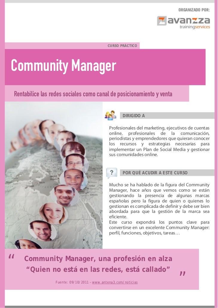 Curso Community manager Barcelona Madrid