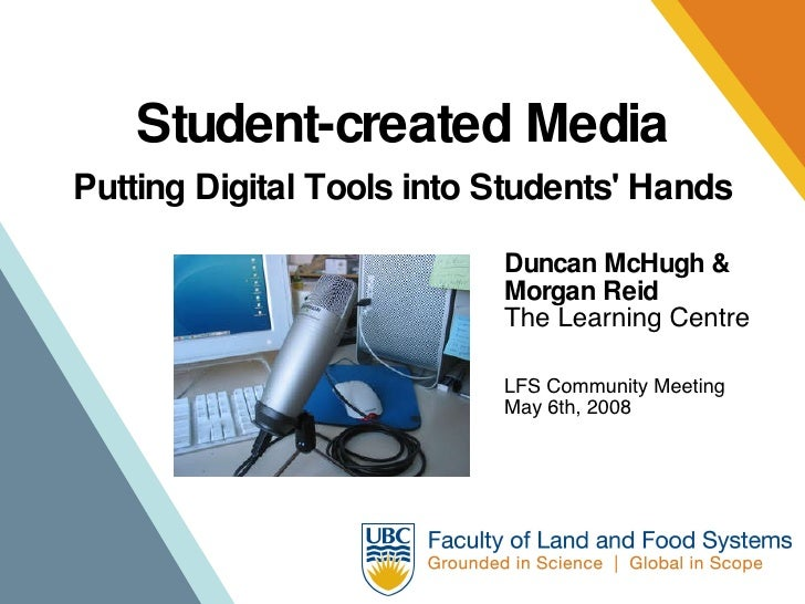 Student-created media in the UBC Faculty of Land and Food Systems