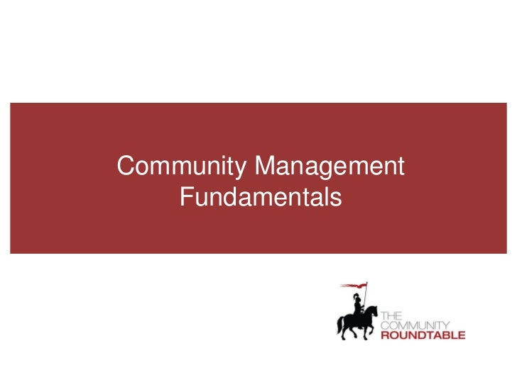 Community Management Fundamentals