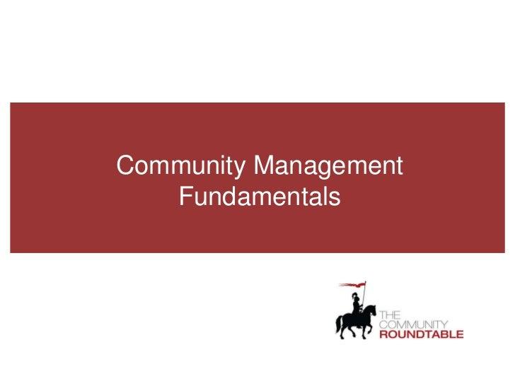 Community Management Fundamentals