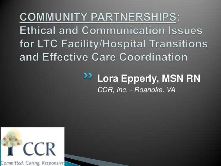 Lora Epperly, MSN RNCCR, Inc. - Roanoke, VA