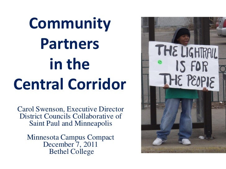 Community partners in the central corridor