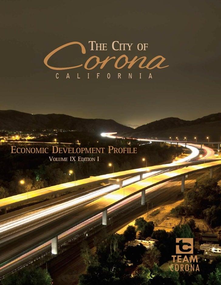 thE city of            C A L I F O R N I A     Economic DEvElopmEnt profilE         volumE iX EDition i