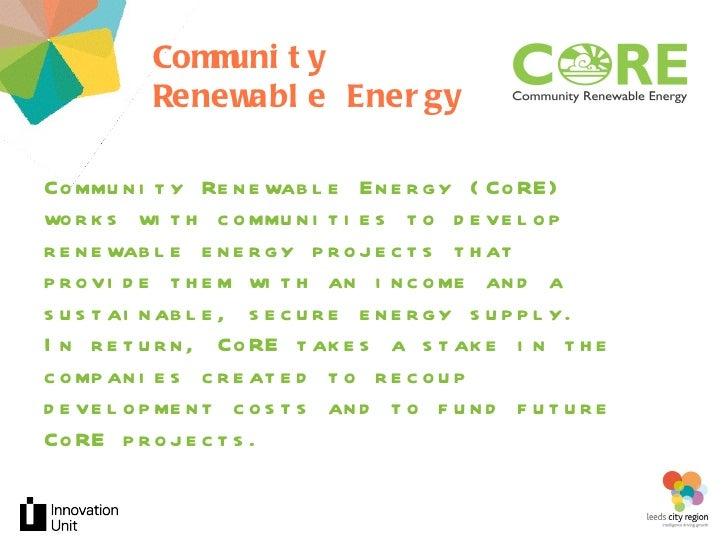 Community Renewable Energy