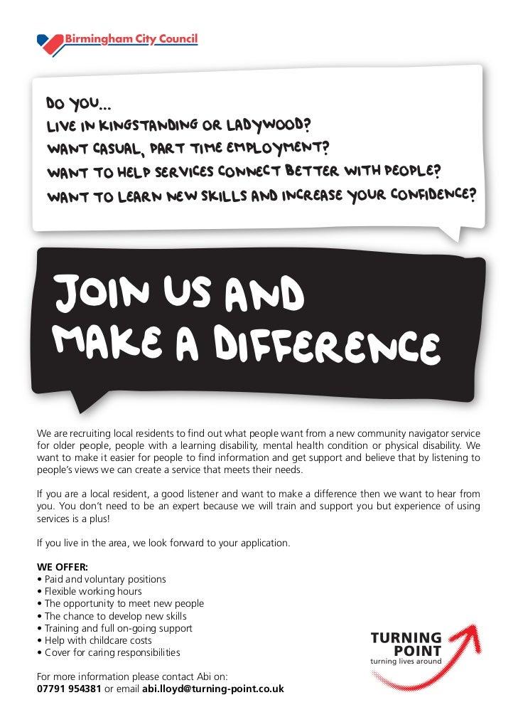 Community researcher poster birmingham