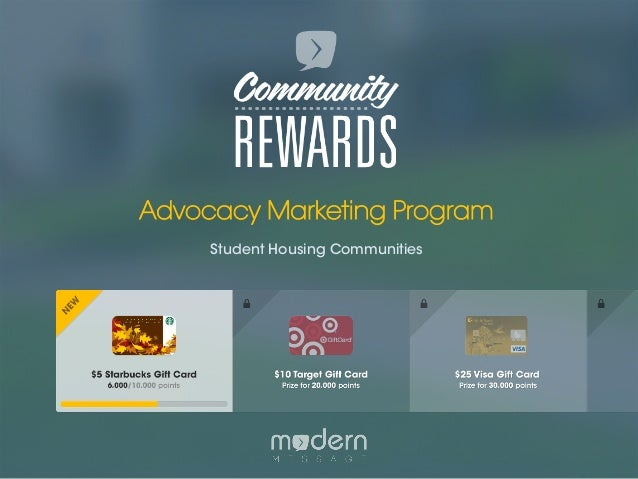 Community Rewards Presentation