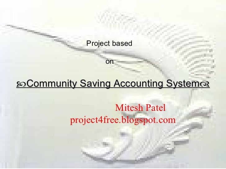 Community saving accounting_system