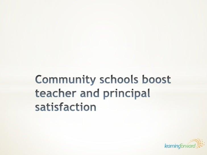 Community schools boost teacher and principal satisfaction