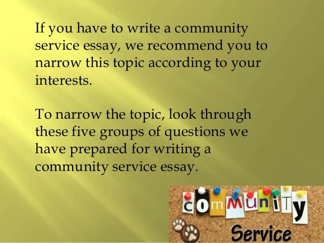 writing an essay on community service