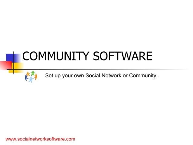 Community software