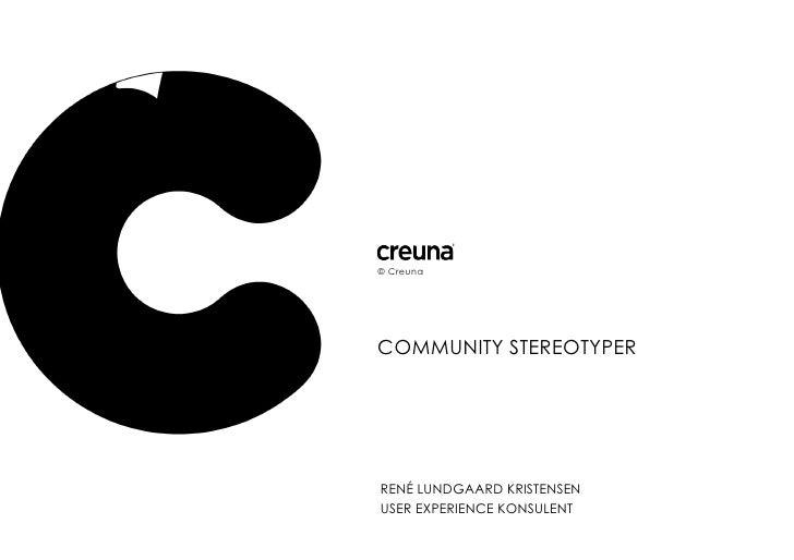 Community Stereotyper
