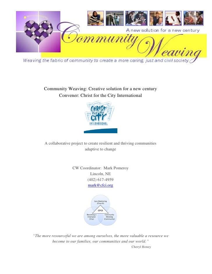 Community weaving e presentation-cfci