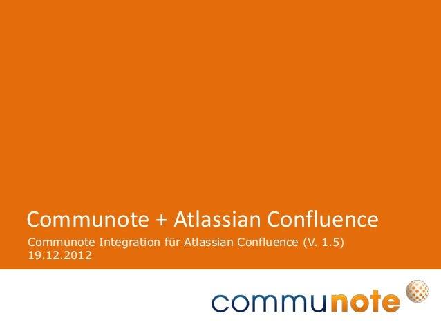 Communote Integration für Atlassian Confluence