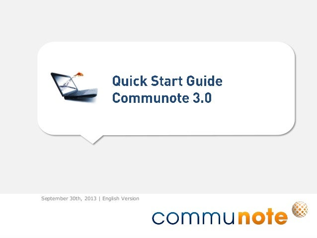 Quick Start Guide Communote 3.0 English