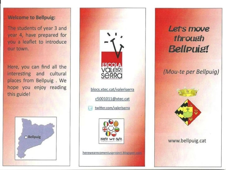 Comenius Leaflet Bellpuig