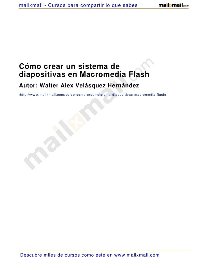 Como Crear Sistema Diapositivas Macromedia Flash