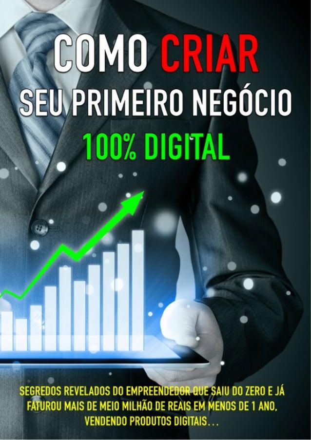 Como Criar Seu Primeiro Negócio 100% Digital Por Tiago Bastos Quer Dinheiro Online? 1