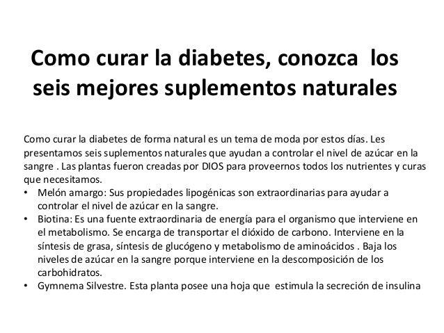Suplementos naturales para el tratamiento de la Diabetes
